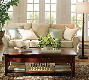 sofas and living rooms ideas with a vintage touch from With pottery barn living room designs