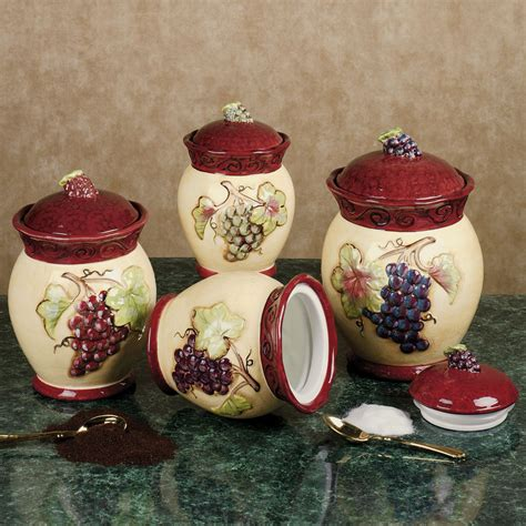 tuscan kitchen canisters sets tuscan wine canister kitchen grapes wine tuscany