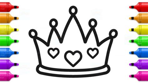 draw baby princess crown cute coloring book