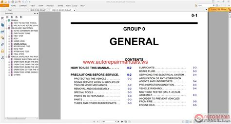 free online auto service manuals 1985 mitsubishi pajero transmission control mitsubishi pajero eur 2008 service manual auto repair manual forum heavy equipment forums