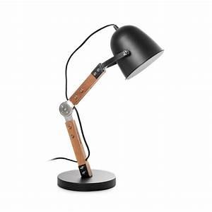 Lampe A Poser Noire : lampe industrielle poser bois m tal branch by drawer ~ Teatrodelosmanantiales.com Idées de Décoration