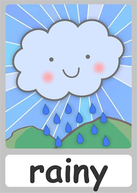weather flashcards teach  weather  flashcards