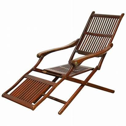 Chair Chairs Deck Lounge Folding Plastic Antique