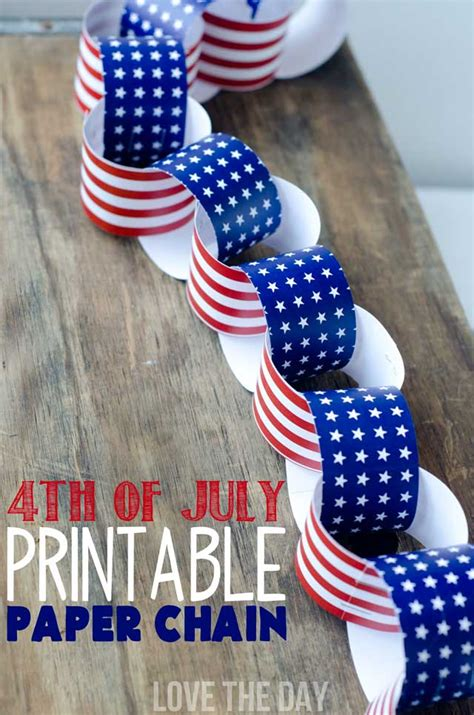 fourth of july crafts 4th of july crafts for kids a patriotic paper chain
