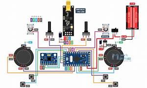 Diy Arduino Based Rc Transmitter Circuit Diagram