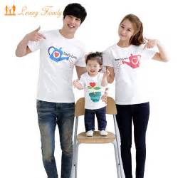 family fashion cultivate summer sleeve t shirt matching family clothing for