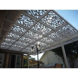 Home Depot West Side by Acurio Latticeworks Dove 32 In X 4 Ft White Vinyl