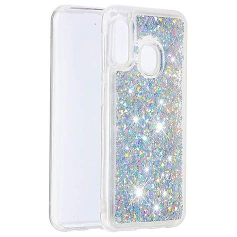 Liquid Glitter Series Samsung Galaxy A20e TPU Case - Silver