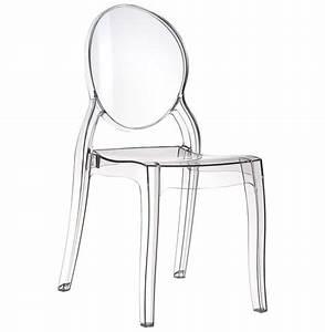 Chaise Plastique Transparente : chaise m daillon eliza transparente en mati re plastique addesign ~ Melissatoandfro.com Idées de Décoration