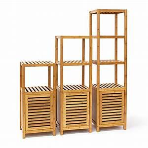 Regal Für Holz : relaxdays badregal bambus mit 3 4 oder 5 ablagefl chen standregal mit t r regal aus holz f r ~ Eleganceandgraceweddings.com Haus und Dekorationen