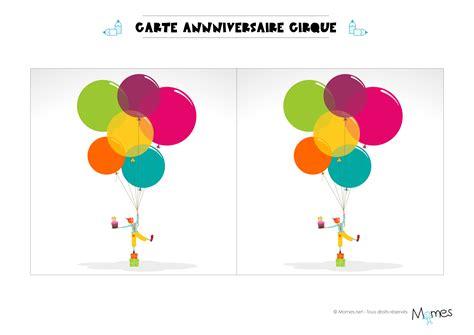 Carte Anniversaire Cirque à Imprimer Momesnet