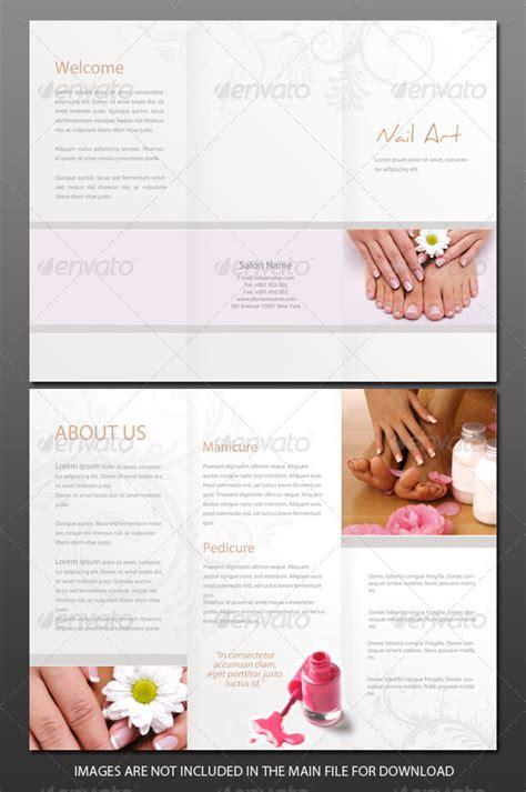 Free Spa Brochure Templates by Free Manicure And Pedicure Flyers 187 Dondrup