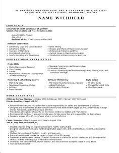 resume functional resume sample  fresh graduate