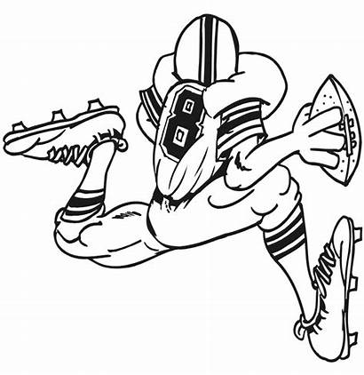 Coloring Football Pages Printable Sports Quarterback Rugby