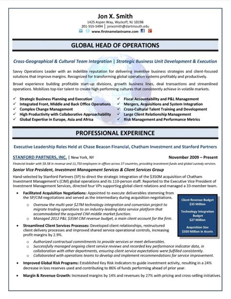 20956 executive resume design executive resume sles