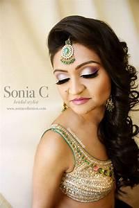 indian bridal look! garba makeup, sangeet makeup, reception makeup, curls, hair down, silver and