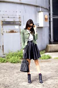 Cute Casual Fall Outfit With Skirt Latest Street Fashion