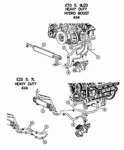 2004 Dodge Ram 2500 Hose  Power Steering Pressure