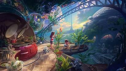 4k Colorful Fantasy Wallpapers Backgrounds Artstation Artist