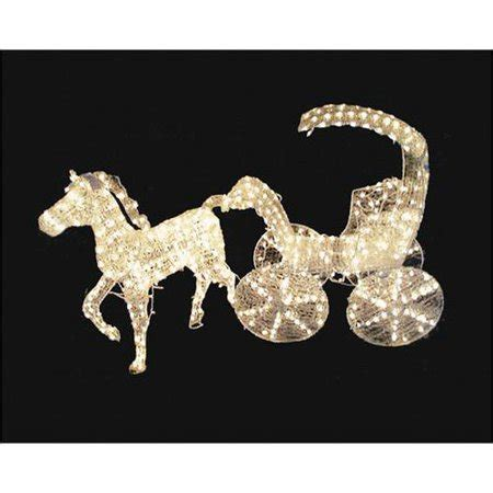 lighted crystal   horse  carriage christmas