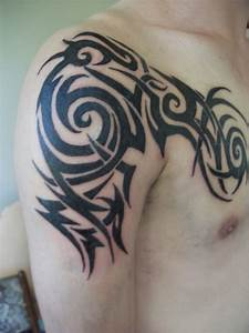 Tribal Tattoos Arm And Chest