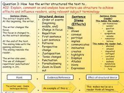 english language paper  question  structure teaching resources