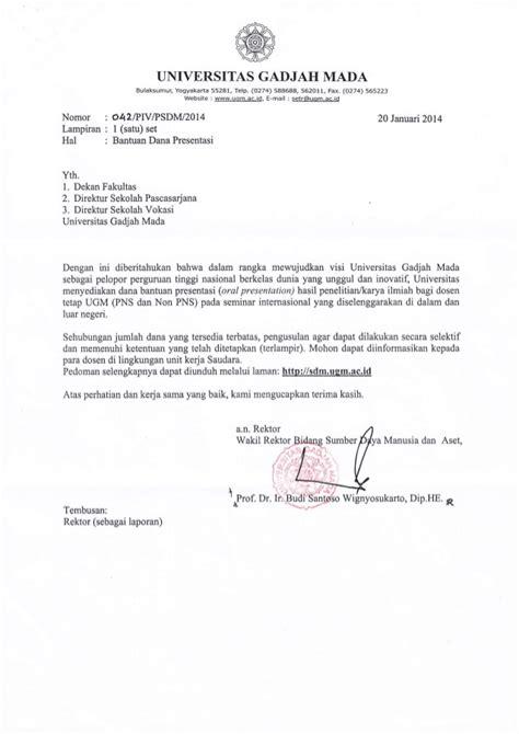 Surat Ijin Kerja Dinas by Contoh Surat Dinas Block Style Contoh Nov