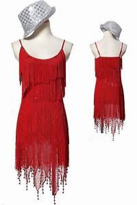 robe pour danser a franges ornee de paillettes sequin With robe pour danser