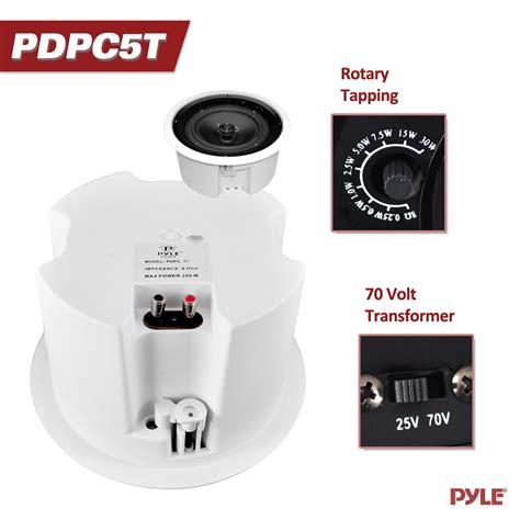 pylehome pdpc5t in wall in ceiling 5 enclosed