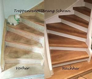 Alte Holztreppe Sanieren : treppenrenovierung mit laminatstufen stufendekor eiche vintage alte treppe neu gestalten ~ Frokenaadalensverden.com Haus und Dekorationen