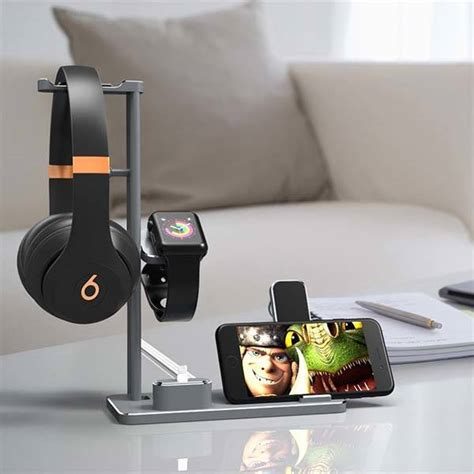 dhouea multi device charging station  headphone holder
