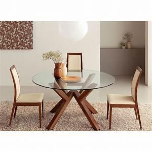 Connubia table ronde mikado o 120 cm noyer table a for Meuble salle À manger avec acheter chaises de cuisine