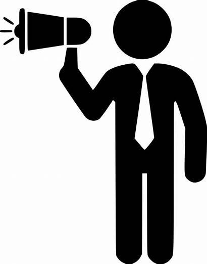 Communication Icon Megaphone Executive Icons Speach Svg