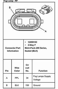 Need Wiring Diagram For 2003 Gmc 2500hd     Fog Light  Rear Cargo Light Switch Plug