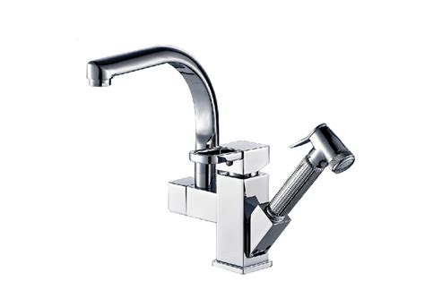 Bar Faucet With Sprayer by Deck Mounted Chrome Brass Kitchen Faucet Pull Out Sprayer