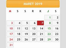 Tanggalan 2019 maret Download 2019 Calendar Printable