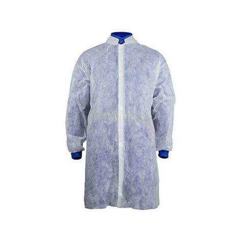 Vienreizējie halāti PP, ar uzlīmēm, balts (1gab) - disposa.lv