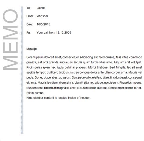 what is a business memo business memo template 18 free word pdf documents