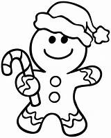 Gingerbread Coloring sketch template
