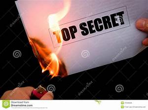 burning a top secret paper royalty free stock image With burning documents