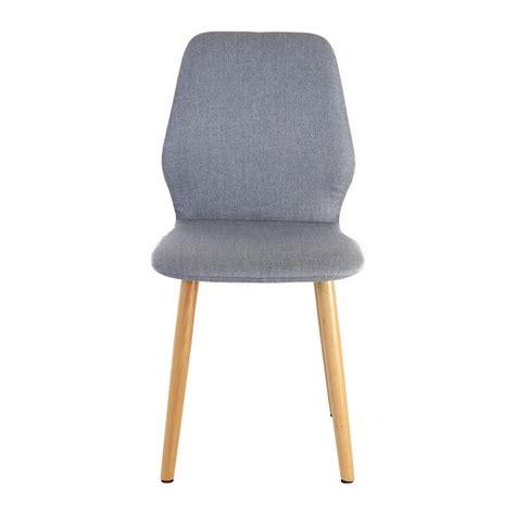 chaise gris clair lot de 2 chaises en tissu pied bois gris clair zago store