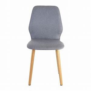 Chaise En Tissu Gris : lot de 2 chaises en tissu pied bois gris clair mooviin ~ Teatrodelosmanantiales.com Idées de Décoration