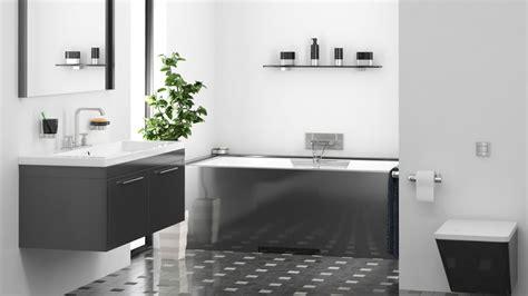 ideas  decorar el bano en color negro tono mas claro