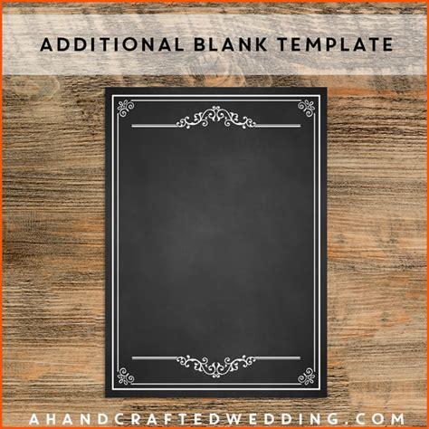 Blank Menu Template | Best Blank Menu Template Ideas And Images On Bing Find What You