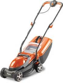 flymo chevron 32vc 1200w electric wheeled range lawn mower with lever 163 79 99