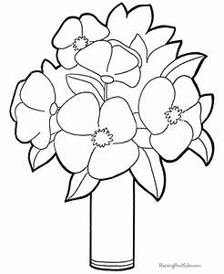 Flowers To Color For Kids - AZ Coloring Pages