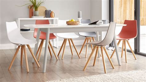 Modern Grey and White Extending Dining Table   8 seater   UK