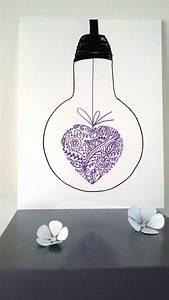 Dessin De Plume Facile : affiche illustration ampoule mon coeur est toi ampoule mon coeur et feutrine ~ Melissatoandfro.com Idées de Décoration