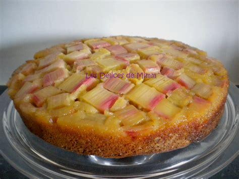 cuisiner de la rhubarbe gâteau à la rhubarbe façon tatin les délices de mimm