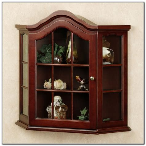 decorative wall curio cabinets small wall curio cabinet with glass doors cabinet home